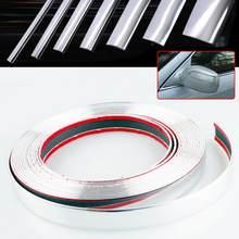 EIDRAN 15M del Bicromato di Potassio Dell'automobile Styling Auto Auto Adesivo Porta Laterale Auto Moulding Trim Striscia di Adesivo 6 8 10 12 15 18 20 22 25 30 millimetri di Larghezza