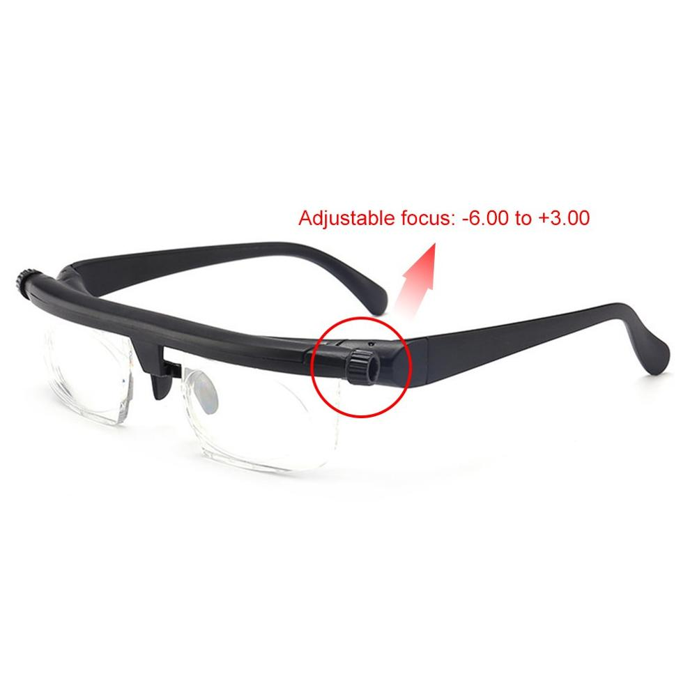 Adjustable Glasses Non-Prescription Lenses Nearsighted Farsighted Computer Reading Driving Unisex Variable Focus Glasses Relax