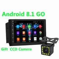 2 Din Android 8,1 coche radio Multimedia reproductor de vídeo Universal estéreo para coche GPS mapa para Volkswagen Nissan Hyundai