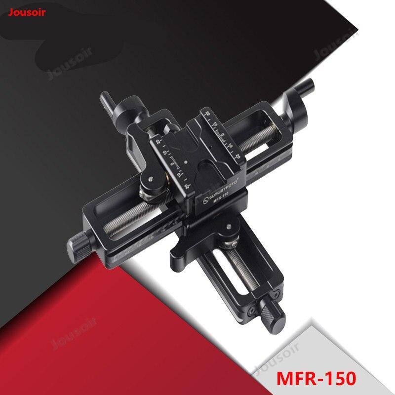 Trilho de focagem macro/MRF-150S macro com controle deslizante de 4 vias da braçadeira do parafuso-botão MFR-150 cd50 t03