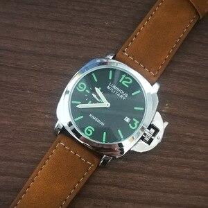 Image 4 - แฟชั่นแบรนด์หรูนาฬิกาผู้ชายนาฬิกากันน้ำหนังควอตซ์นาฬิกาข้อมือทหารนาฬิกาผู้ชายนาฬิกาชายRelojes Hombre Hodinky