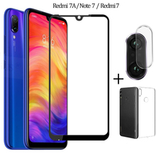 3 in 1 Case + Camera Tempered Glass For Redmi 7A Note 7 Screen Protector Lens Glass On Redmi 7A Note7 Glass Xiaomi Note 7 Pro