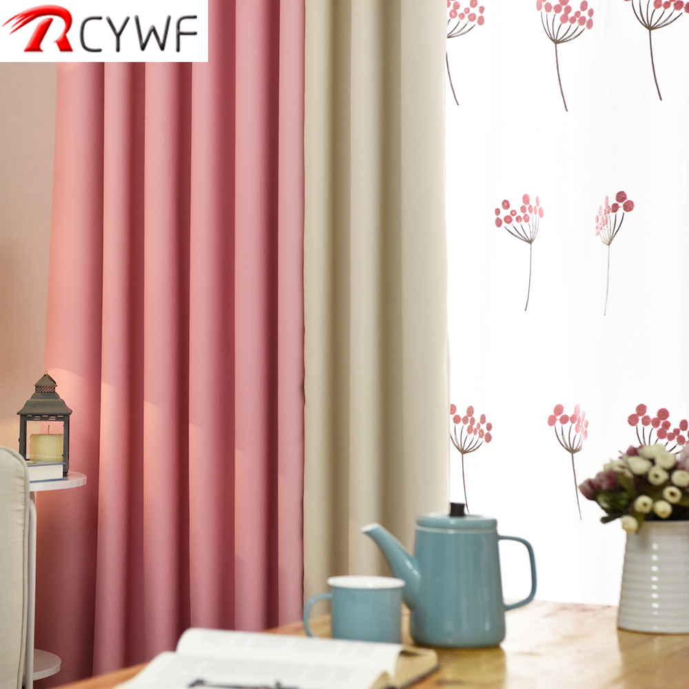 US $6.44 49% OFF Modern Blackout Curtains For Living Room  Pink/green/blue/purple Bedroom Finished Drapes For Window Treatment-in  Curtains from Home & ...