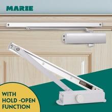 Автоматический Дверной доводчик система безопасности регулируемое закрывание/скорость фиксации Алюминий для дверей 40-65 кг дверные доводчики
