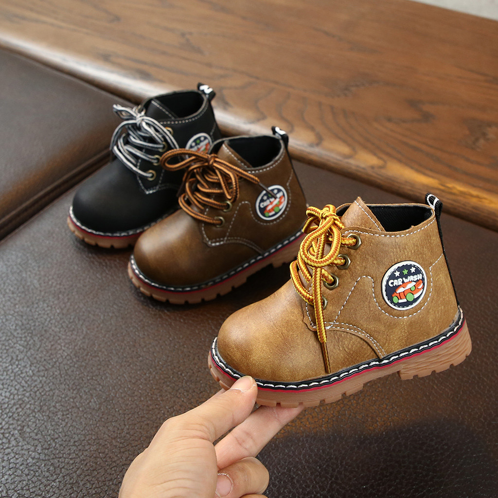 Children Kid Baby Girls Boys Ankle Sport Zip Short Solid Boots Bootie Casual Shoes Kids Shoes Sapato Bota Infantil детская обувь