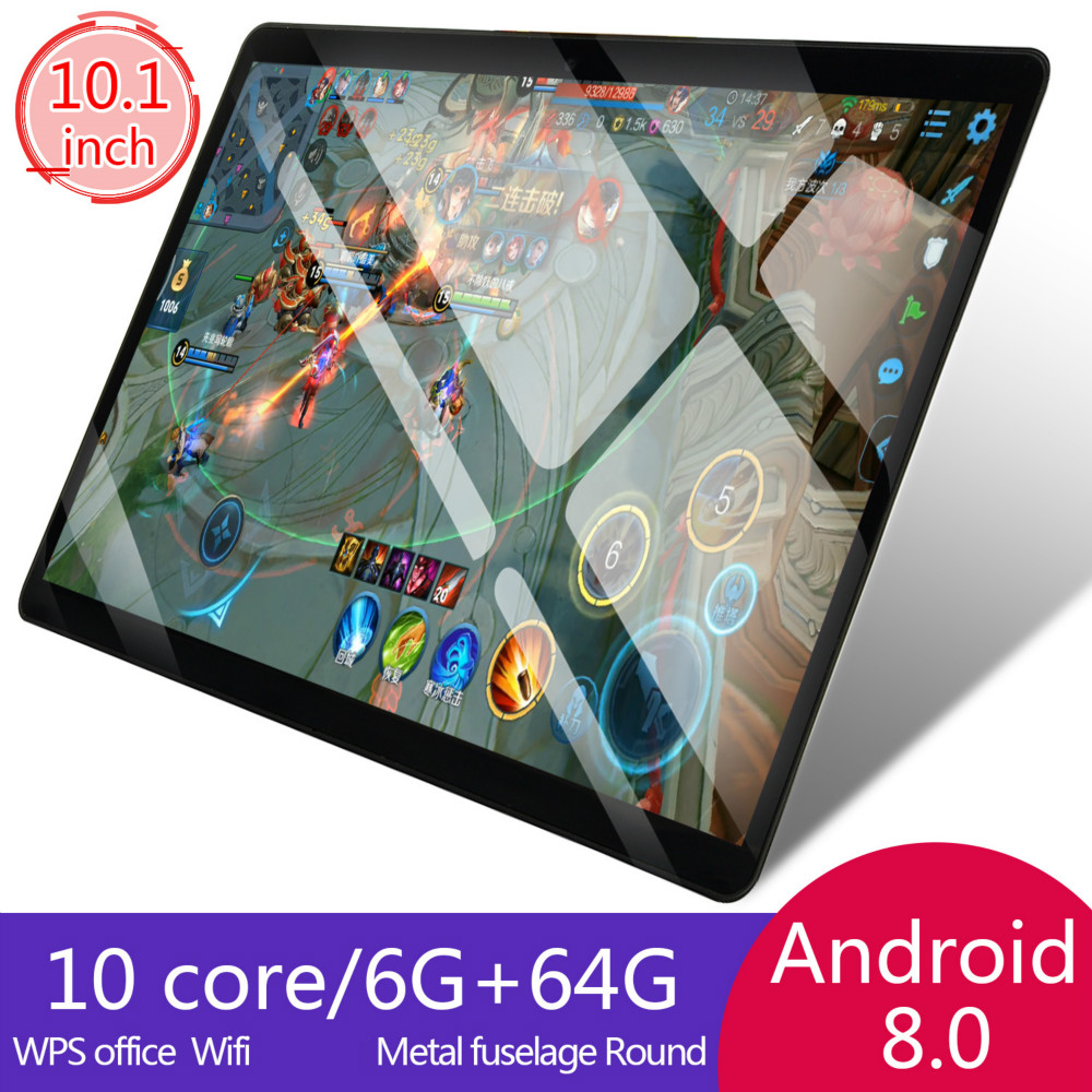 2.5D Glass 10 Inch 4G LTE Tablet Pc Android8.0 Octa Core PC Tablets Resolving Power 8MP 5000mAh 6G+64G/16G