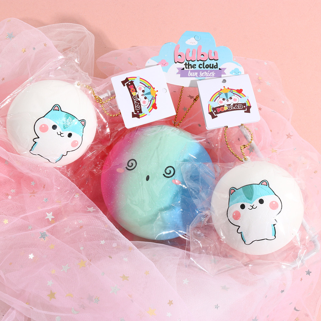 Mini Toy Antistress Ball Cute Bread Pendant Scented Charm Rising Toys Soft Sticky Collection Stress Relief Toys Funny Gift L1217