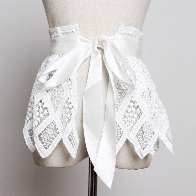 Hot Sale New Fashion Trendy Fashion Corset Belts For Women Solid Lace Panel Drawstring Wide Belt Sweat Mini Skirt Female ZK297 3