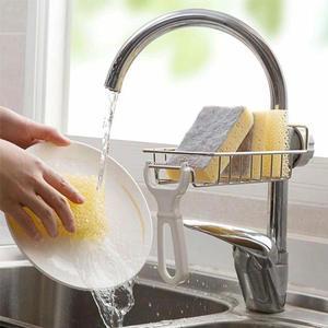 Shelf Rack Sink Soap-Organizer Sponge-Holder Drainer Shower-Tray Storage Stainless-Steel