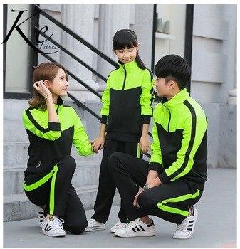 ke-sport-set-couple-family-men-women-kids-children-sportswear-black-green-sport-set-tracksuit-big-size-plus-running-football-5xl