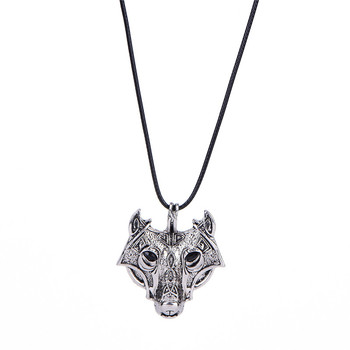 1 Pc Nordic Talisman Jewelry Halskette new Norse Vikings Amulet Pendant Necklace Wolf Kopf Norse Wolf Head Pendant Necklace image
