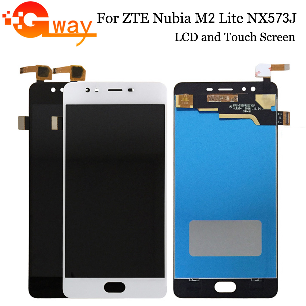 100% tested For ZTE Nubia M2 Lite NX573J LCD Display Touch Screen Digitizer Assembly With Frame For M2 Youth Phone Repair Parts(China)