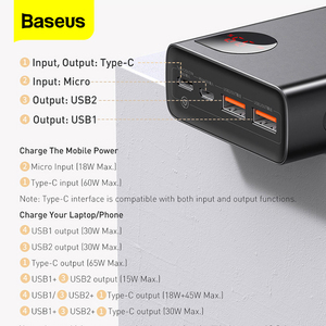 Image 3 - Baseus PD 65W Power Bank 20000mAh QC4.0 Portable Charging External Battery Charger PowerBank For iPhone Xiaomi Macbook PoverBank