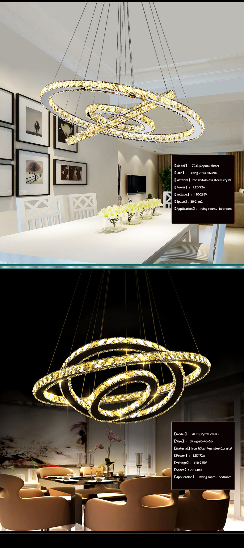High Quality modern chrome chandelier