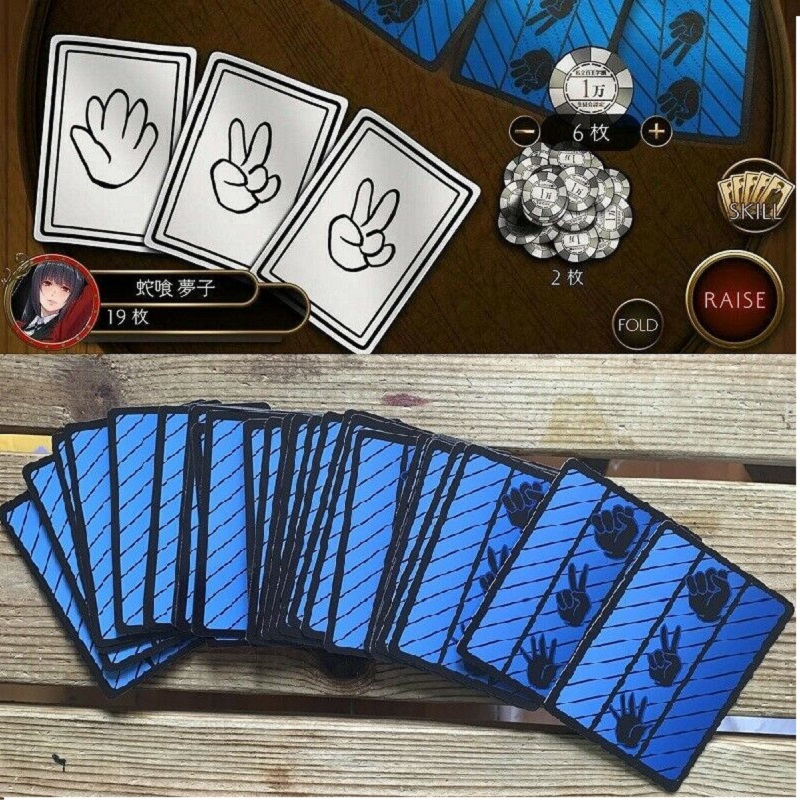 Board Game Rock Paper Scissors Poker Cards Kakegurui Yumeko Cosplay Prop 30 Pcs