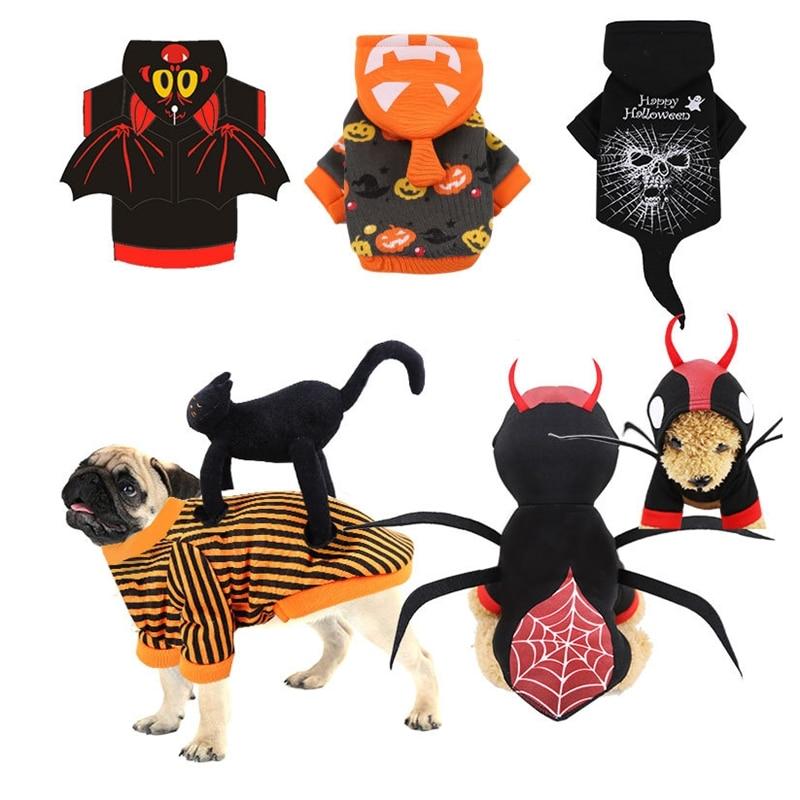 Костюмы на Хэллоуин для собак, одежда для собак, кошек, чихуахуа зимняя собака пальто, Одежда для питомцев для небольших собак Одежда для кошек Рождество|Пальто и куртки для собак|   | АлиЭкспресс