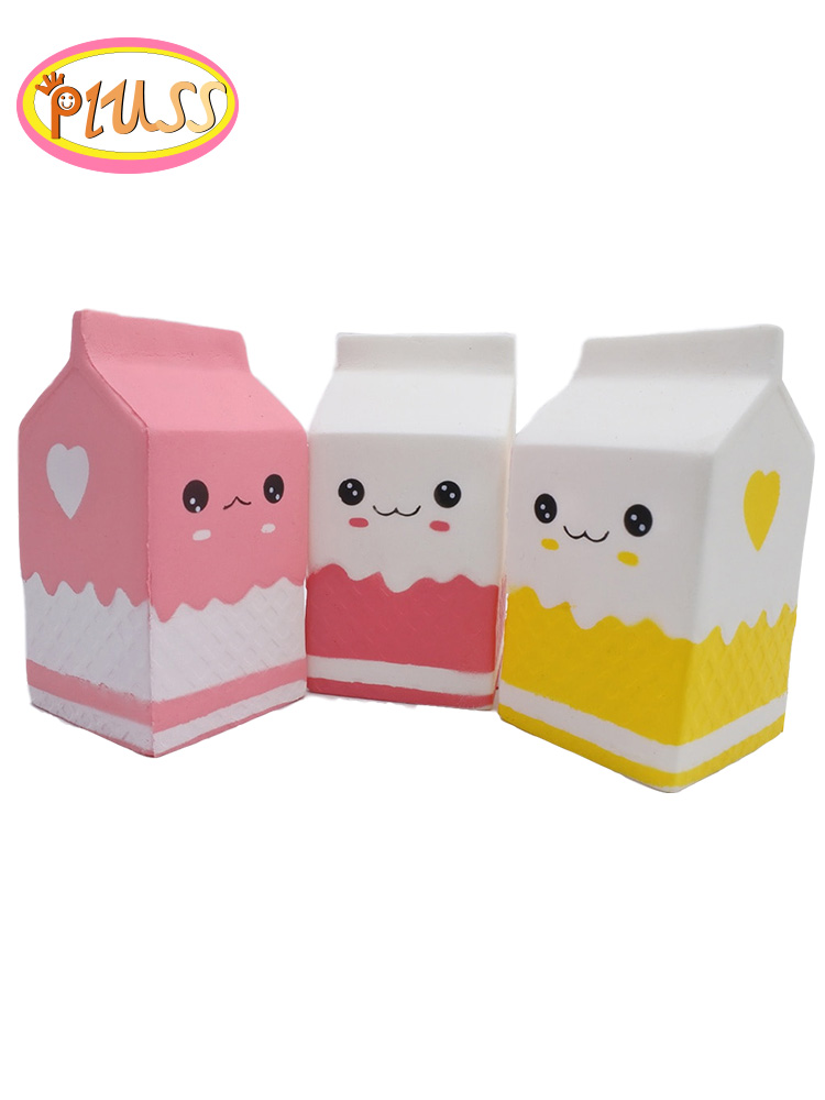 Kawaii Cute Squishy Milk Squishies Toys Children Slow Rising Antistress Exquisite Kid Soft Gift Practical Jokes