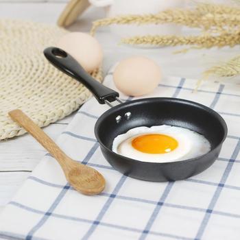Mini patelnia gotowana Protable Egg agd mała kuchenka do kuchni naczynia kuchenne tanie i dobre opinie JJ2025749 12 cm Non-stick Patelnie Zaopatrzony
