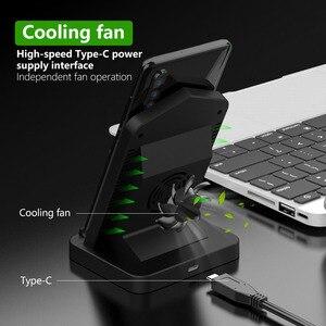 Image 3 - Soporte de cargador inalámbrico para iPhone, ventilador de refrigeración de 10W, cargador de inducción de carga inalámbrica para iPhone X, XR, XS, 8 Plus, Samsung S8, S9, S7