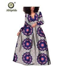 アフリカ女性ドレスアンカラプリント純粋な綿 2018 バザンリッシュ新スタイルドレスアフリカ生地 AFRIPRIDE