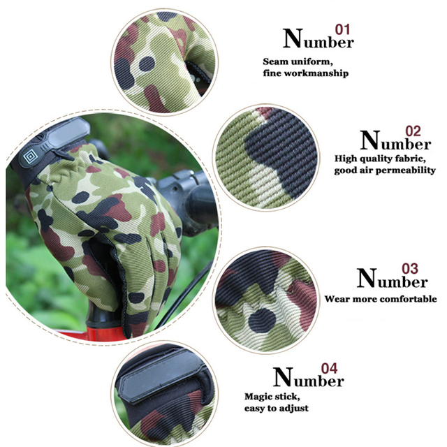 Summer Outdoor Sports Cycling Gloves Men's Non-Slip Silicone Glove Bicycle Windproof Full Finger Gloves For Fishing 4