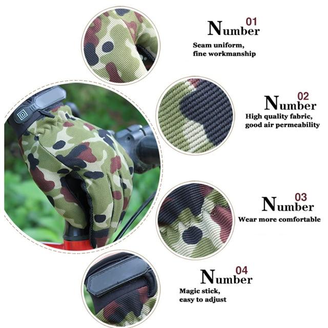 Men's Sport Tactical Gloves Fingerless Army Lightweight Summer Breathable Riding Female Gloves Full Fingers Non-Slip 4