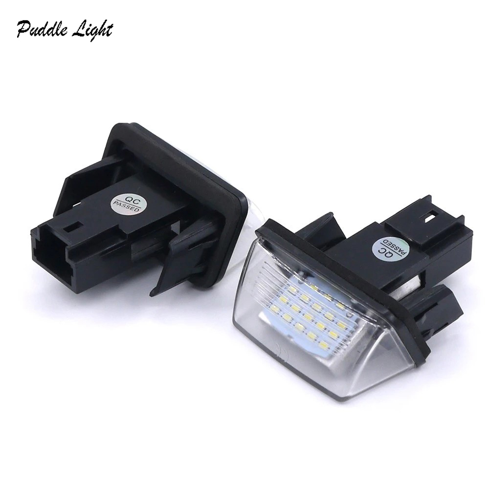 2Pcs LED License Number Plate Lights Lamp For Peugeot 206 207 306 307 308 406 407 5008 Partner M49 M59 B6 in Signal Lamp from Automobiles Motorcycles