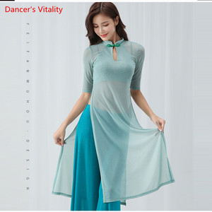 Image 4 - Belly Dance Cheongsam Training Clothes New Cheongsam Costumes Suit Modern Dance Clothes