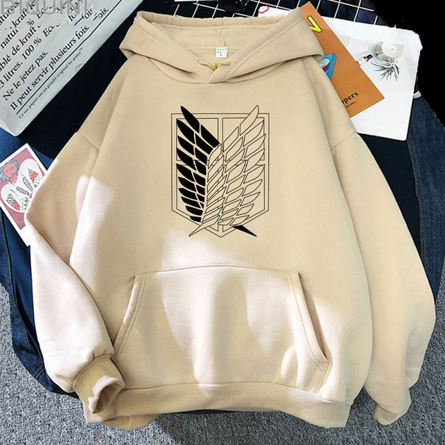 Attack on Titan Hoodies Unisex Male Female Print Shingeki No Kyojin Anime Clothes Loose Casual Streetwears Link Aesthetic Korean 1