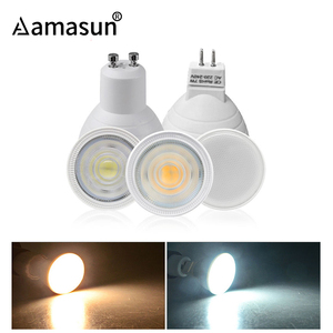 LED Lamp MR16 GU5.3 GU10 LED Bulb MR16 220V LED GU10-leds 8W 6W 4W 7W 5W COB 2835 Chip Spot Light Spotlight 180 120 24 Degree
