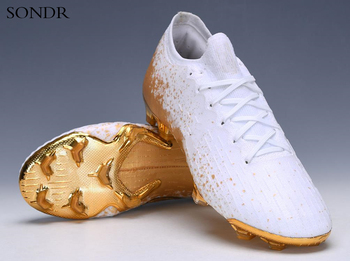 Outdoor Men Boys Soccer Shoes Football Boots High Ankle Kids Cleats Training Sport Sneakers 2020 Dropshipping