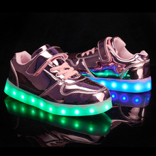 New Spring Summer Children USB Colorful Flash Charging Luminous Shoes Led Light Shoes For Kids 9-8 2016 spring new arrival children led light shoes boys and girls breathable shoes kids usb charging flash colorful luminous shoes