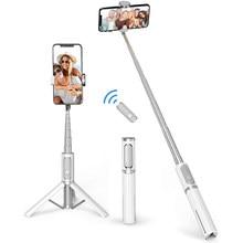 Mini Bluetooth Selfie Stick statyw aluminiowy Monopod stojak dla Xiaomi Huawei iPhone 11 Pro Max X XS XR 7 8 Plus SE 2020 12 telefon