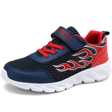 Kids Shoes Summer Boys Sneakers Mesh Breathable Children Shoes Outdoor Shoes For Running Sport Casual Flats Baby Shoes Dark Blue