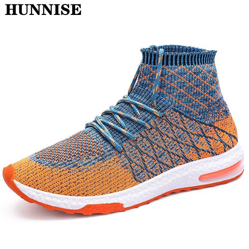HUNNISE décontracté hommes baskets mode école étudiant chaussures hommes chaussures respirantes pour hiver chaud hommes chaussures légères chaussures décontractées