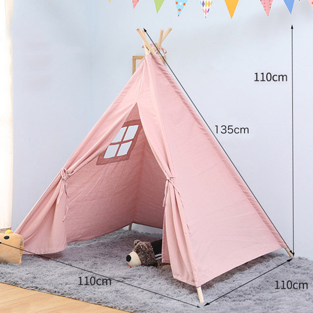 11 Type Portable Cotton Canvas Tipi Folding Indoor Children's Tent Teepee Original Triangle Indian Kids Tent Wigwam For Children
