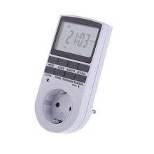 Minuterie numérique électronique, minuterie de cuisine, 24 h, programmable cyclique, prise de synchronisation, UK US AU EU FR
