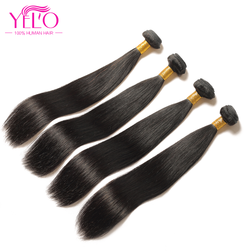 YELO High Ratio Brazilian Remy Straight 3Pcs/lot 100% Human Hair Extensions 8 30inch Natural Color Free Shipping - 6