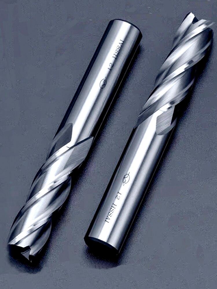 Milling-Tool Router-Bit End-Mills Cobalt Metal-Cutter Teeth Aluminum High-Precision D1-32mm-2-3-4-Flutes