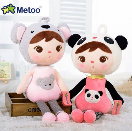 Metoo Angela Doll 50cm Kawaii Stuffed Plush Animals Cartoon Kids Toys Birthday Gift Koala Panda Deer Bee Ladybug Strawberry