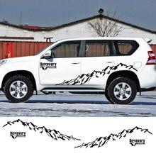 Наклейки на боковые двери автомобиля виниловая пленка Авто DIY Стайлинг наклейки для Toyota Prado Land Cruiser Highlander rav4 автомобильные принадлежности для тюнинга
