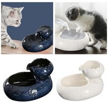 Behogar Mute Ceramic Cat Drinking Water Fountain Smart Electric Automatic Circulating Dispenser Pet Drink EU Plug
