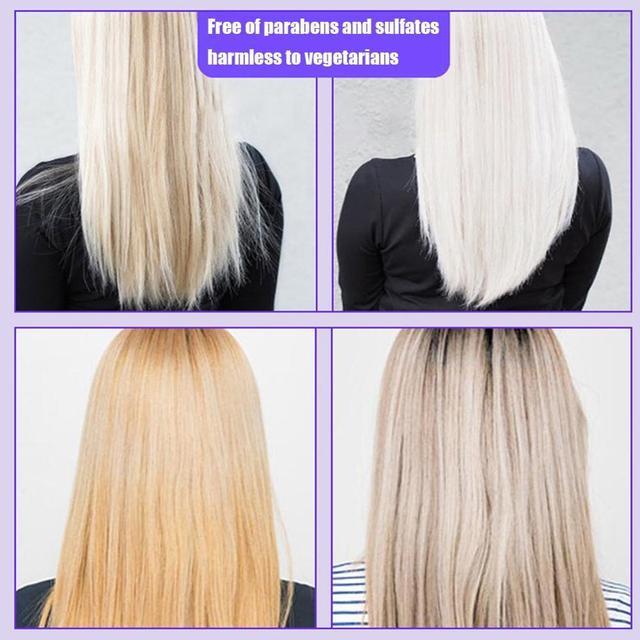 100ml cheveux shampooing enlever jaune violet Toner à argent blond blanchi gris cheveux colorant enlever jaune livraison directe