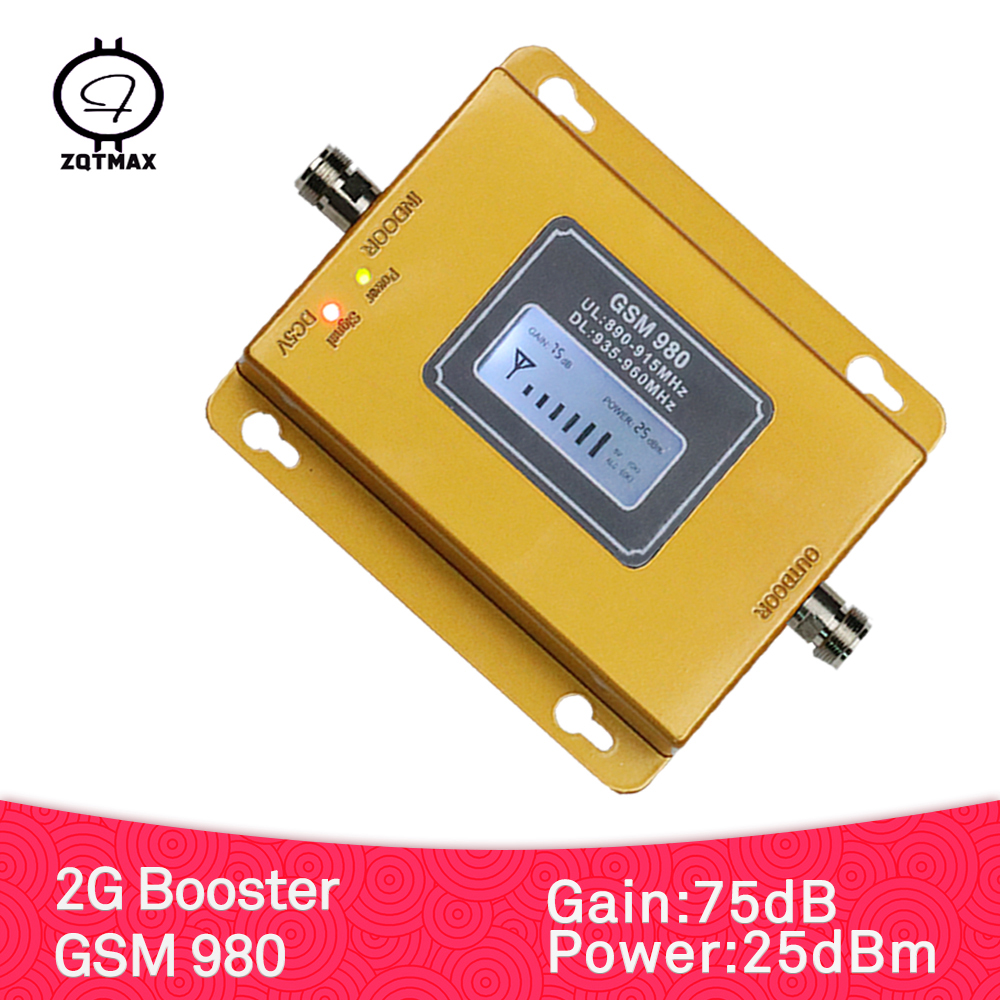 ZQTMAX GSM Repeater 2g Cell Phone Signal Booster 900 MHz Band 8 Hight Power 70db