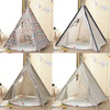 Folding Children's Tent Wigwam Large Kids Play House Indoor Indian Cotton Canvas Portable Child Little Teepee Baby Play Tents