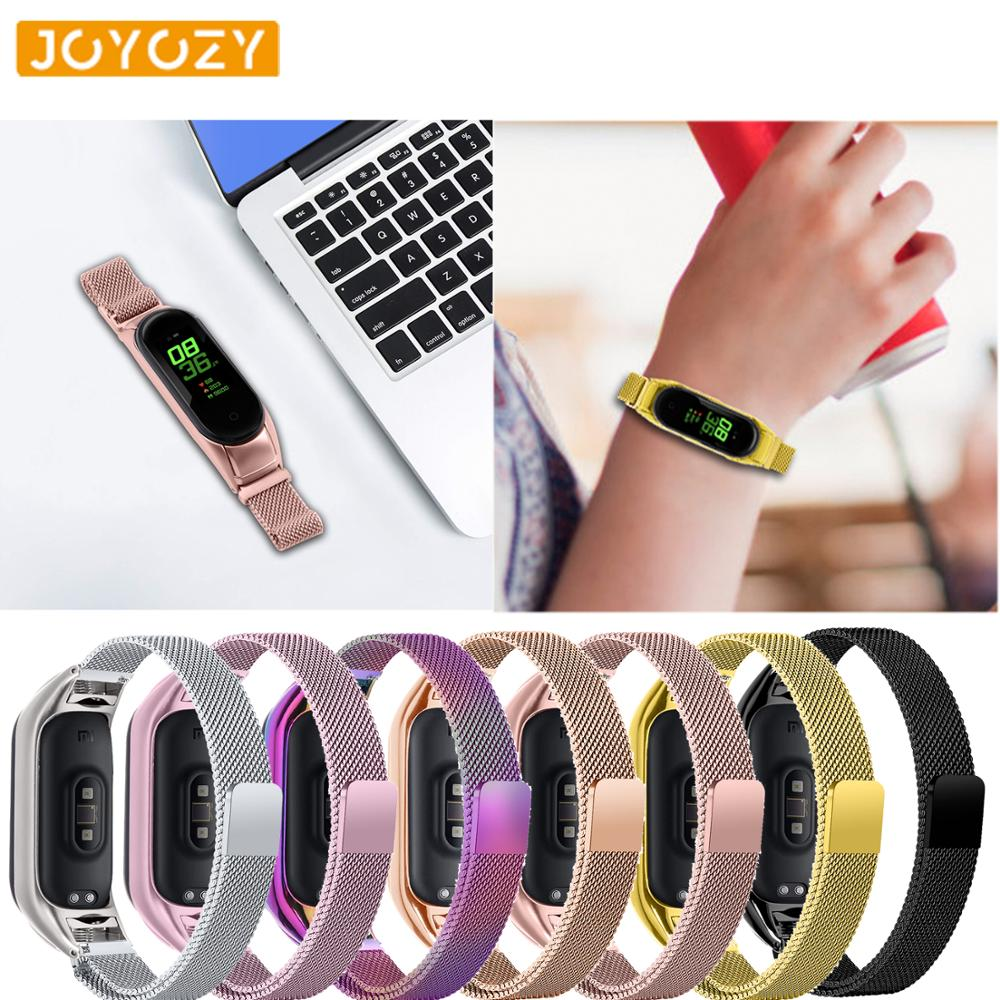 Joyozy Mose Loop Lightweight Stainless Steel For Band Xiaomi Wristband Strap Smart Wrist Watch Strap For Xiaomi Miband 3/4 Watch