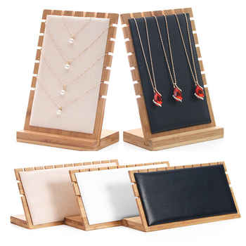 Bamboo Jewelry Pendant Necklace Display Holder Rack Organizer Storage Case - DISCOUNT ITEM  46% OFF All Category