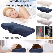Memory Foam Bedding Pillow Butterfly Shaped Relax Neck Protection Health Cervical Slow Rebound For Good Sleeping Quality 50x30CM(China)
