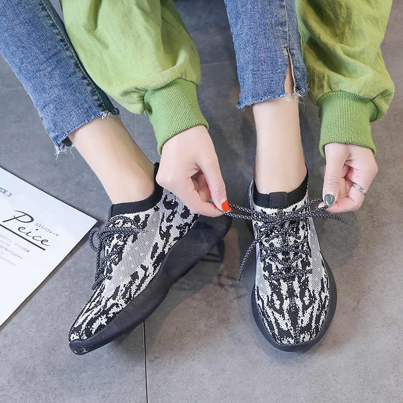 Damyuan Lace Up Women Shoes 2020 Spring Autumn Fashion Zapatos De Mujer Ladies Breathable Sneakers Comfortable Casual Loafers