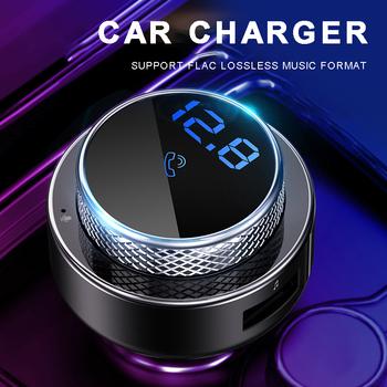12-24 V samochodowy bezprzewodowy nadajnik FM MP3 zestaw głośnomówiący odtwarzacz ładowarka USB dwa porty Adapter Bluetooth 5 0 samochodowy nadajnik FM tanie i dobre opinie Mayitr NONE CN (pochodzenie) Car Charger MP3 Player Car Charger FM Transmitter ABS+PC+Aluminum alloy 12 v 73 43*43 66mm